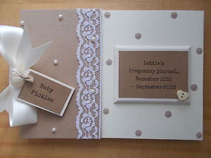 personalised pregnancy journal scrapbook gift memory book quick
