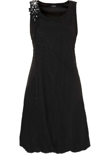 Gr Hübsches Kleid mit Perlenverzierung in Schwarz 40 Q2484-925260