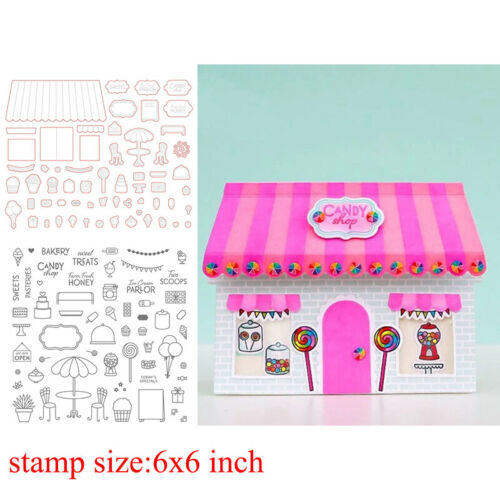 House Balloon Clear stamps coordinating dies for DIY Scrapbooking Paper Craft