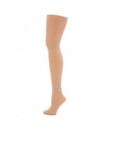 Capezio 20 Light Suntan Women/'s Size Large Footed Super Dance Tights