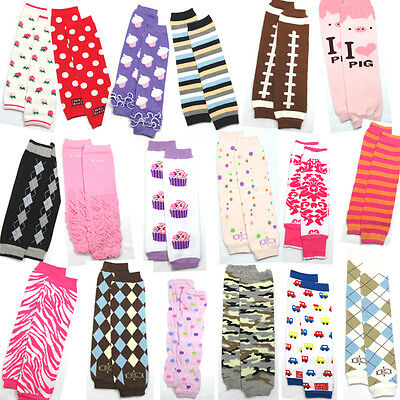 20 Pairs Baby Legs Toddler Girl Boy Infant Arm Leg Warmers Crawl Socks 127 COLOR