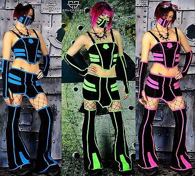 Cryoflesh Zombie Gogo Cyber Goth Apocalypse Punk Rave EBM EMO Clubwear Outfit