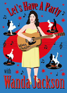 Wanda Jackson Fifties style poster - (signed) Art Print - Jarod Art