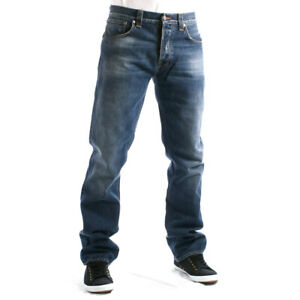 Nudie-Herren-Regular-Straight-Fit-Jeans-Hose-Bio-Denim-Easy-Emil-Blue-Fall