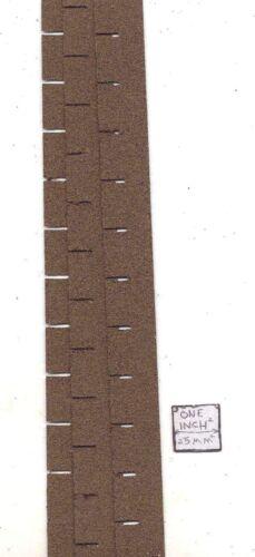 Asphalt Shingles Brown Square Butt 4004 miniatures roofing dollhouse USA 1//12