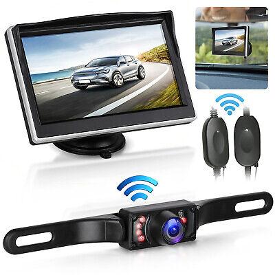 "5/"" TFT-LCD Monitor for Car Truck Wireless Night Vision Rear View Backup Camera"