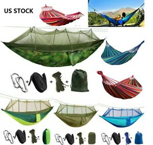 14 Types Camping Hammock + Mosquito Net Tent Hanging Bed Swing Chair Outdoor US