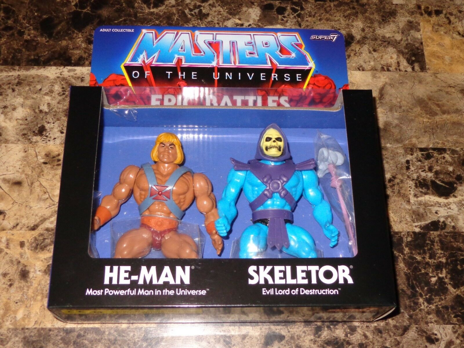 Masters Of The Universe Rare He-Man Skeletor Epic Battles Action Figure Set New