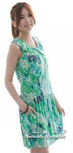 b5e2bb37a35 SALE! GREEN Patterned Nursing DRESS UK 10 12 M Maternity Top ...