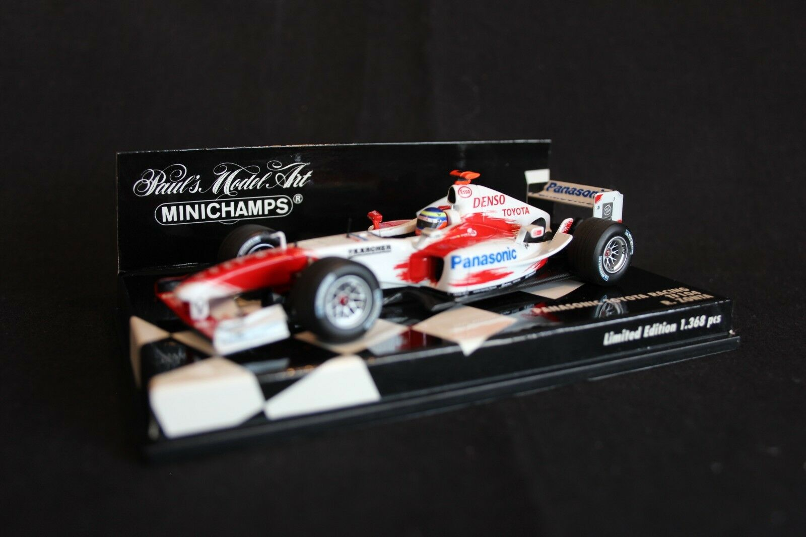 precioso Minichamps Panasonic Jugueteota Racing TF104 2004 1 43 43 43  16 RiCochedo Zonta (BRA)  salida
