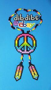 Peace Rainbow Perler Necklace