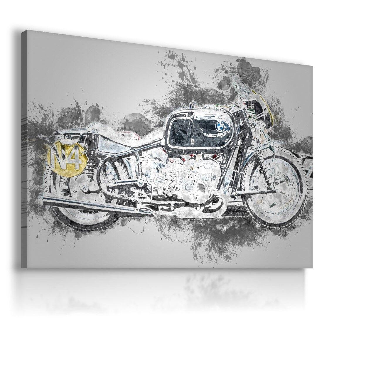 Disegno Pittura MOTO BMW stampa su tela Wall Art foto di grandi dimensioni WS79 mataga