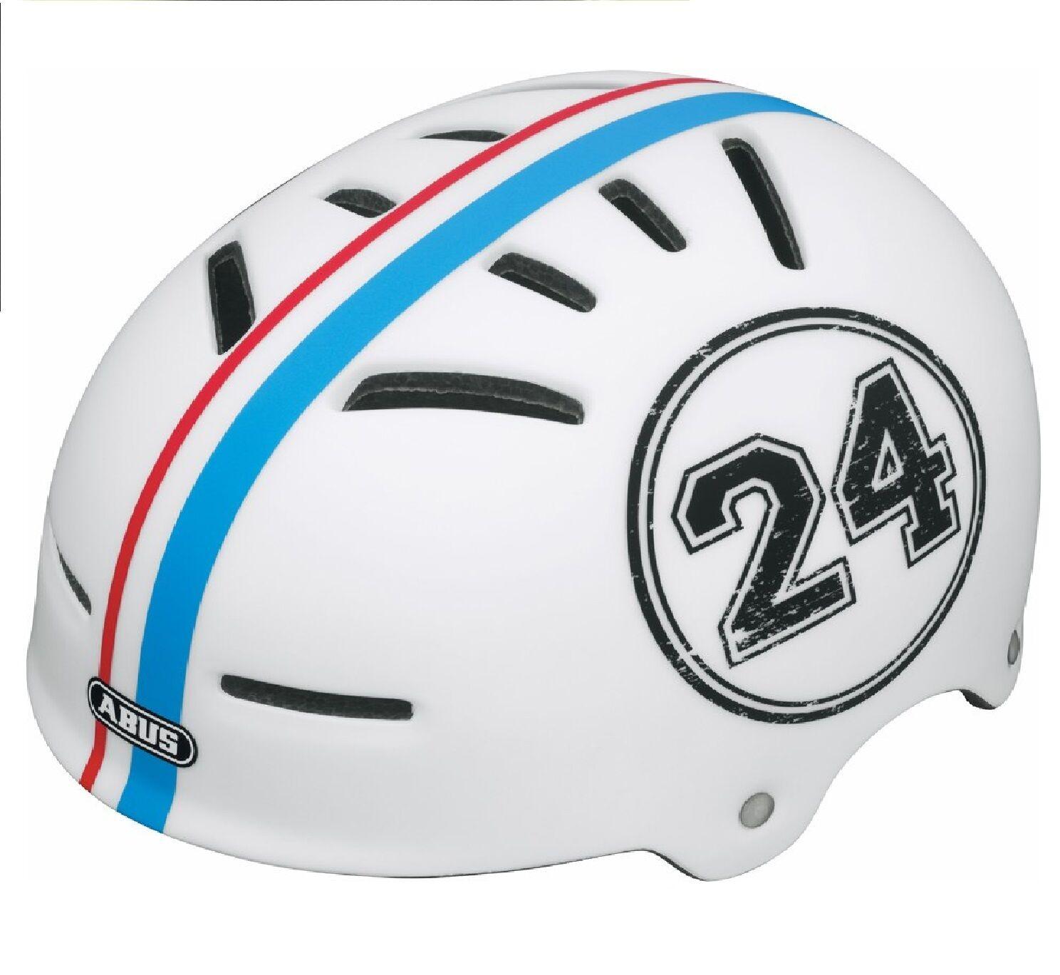 ABUS AVEN-U College Bike Cycle Bicycle White Helmet Medium Adult MTB BMX 53 – 58
