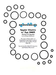Spyder-Electra-w-Eye-2009-Paintball-Marker-O-ring-Oring-Kit-x-4-rebuilds-kits