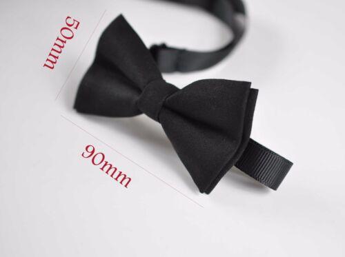 Baby BOY KIDS bLACK Cotton Bow Tie Braces Elastic Suspenders 1-8 Years Old
