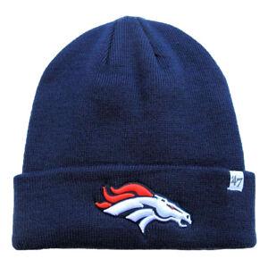 994126c2571 Denver Broncos NFL  47 Brand Navy Blue Raised Cuff Knit Beanie ...