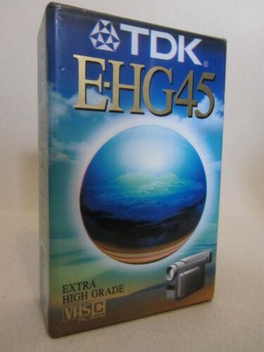 ONE TDK E HG45  VHSC SEALED TAPE EC-45EHGEN 1x