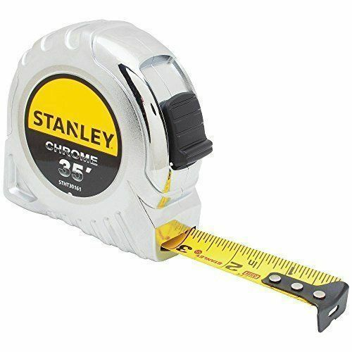 Stanley Chrome Plated Case with Multi Catch Hook 35ft 1 in Blade Tape Measure