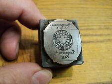 Vintage Keystone Automobile Club Printing Press Ink Stamp Block Printing Tool