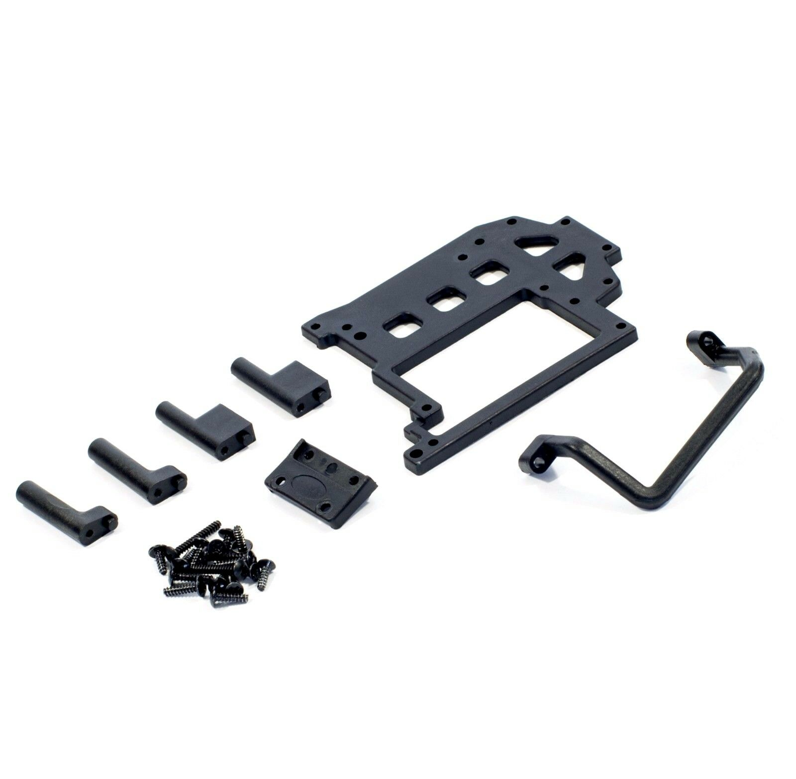 02047 Radio Tray Post 4pcs 1//10 Scale Spare Part For HSP Atomic RC Warhead Buggy