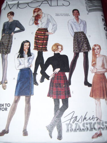 LADIES ABOVE KNEE FRONT WRAP SKIRT PATTERN 8-16  FF McCALL/'S #7243 5 STYLE