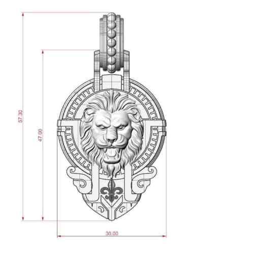 Lion et Couronne Pendentif Lion Pendentif Couronne Pendentif ROI pendentif lion couronne roi