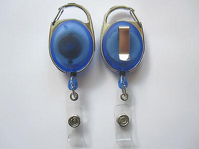 Skipasshalter blau transparent Yoyo Skipassjojo Ausweisjojo Ausweishalter