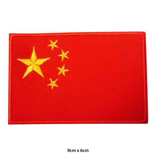 China National Flag Embroidered Patch Iron on Sew On Badge For Clothes Bags etc