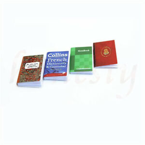 1pc-Random-One-Dollhouse-Miniature-Mini-Book-Paper-Notebook-Magazine-Home-Decor