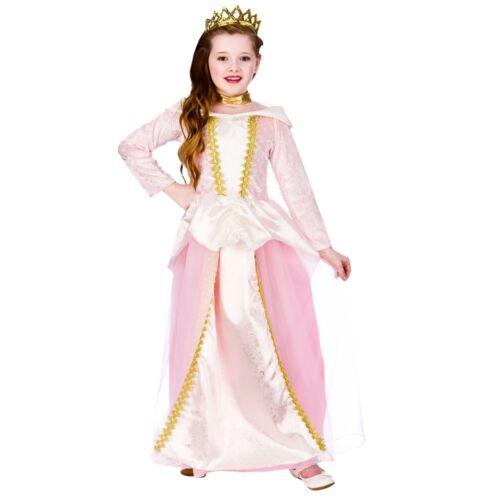 Figlio Fairytale Principessa Medievale Costume Ragazze libro settimana a pelo