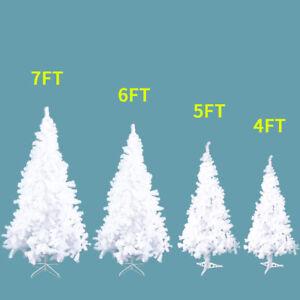 la foto se est cargando white 4 5 6 7 feet tall christmas - 6 Foot White Christmas Tree
