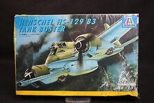 XY047 ITALERI 1/72 maquette avion 055 Henschel HS-129 B3 Tank Buster 1995