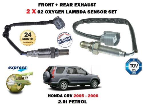 Para HONDA CRV 2.0 K20A4 2005-2006 2X De Escape Delantero Trasero 02 Sensores De Oxígeno Lambda
