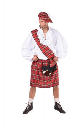 Schotte Schottenkostüm Schottenrock Rock Schotten Kostüm Herren Mütze Hut Kilt