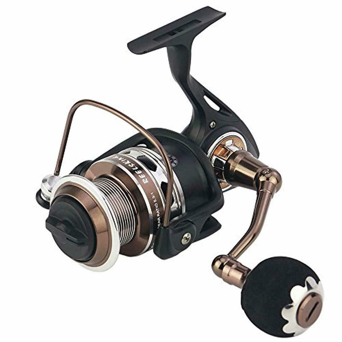 Reelsking Spinning Reel, All Metal Frame, Super Smooth, Max  50 lbs Drag, 13+1 Co  zero profit