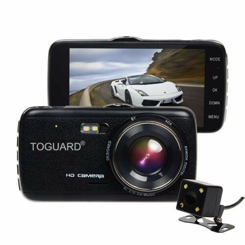 Night Vision,4.0/'/' IPS Screen Dual Lens Dash Cam front and rear recording ATST