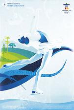 Original Vintage Poster Vancouver Winter Olympics Figure Skating Ice Dance 2010