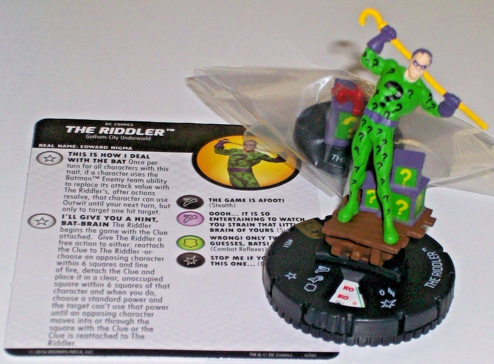 THE RIDDLER The Joker's Wild DC HeroClix Super Rare