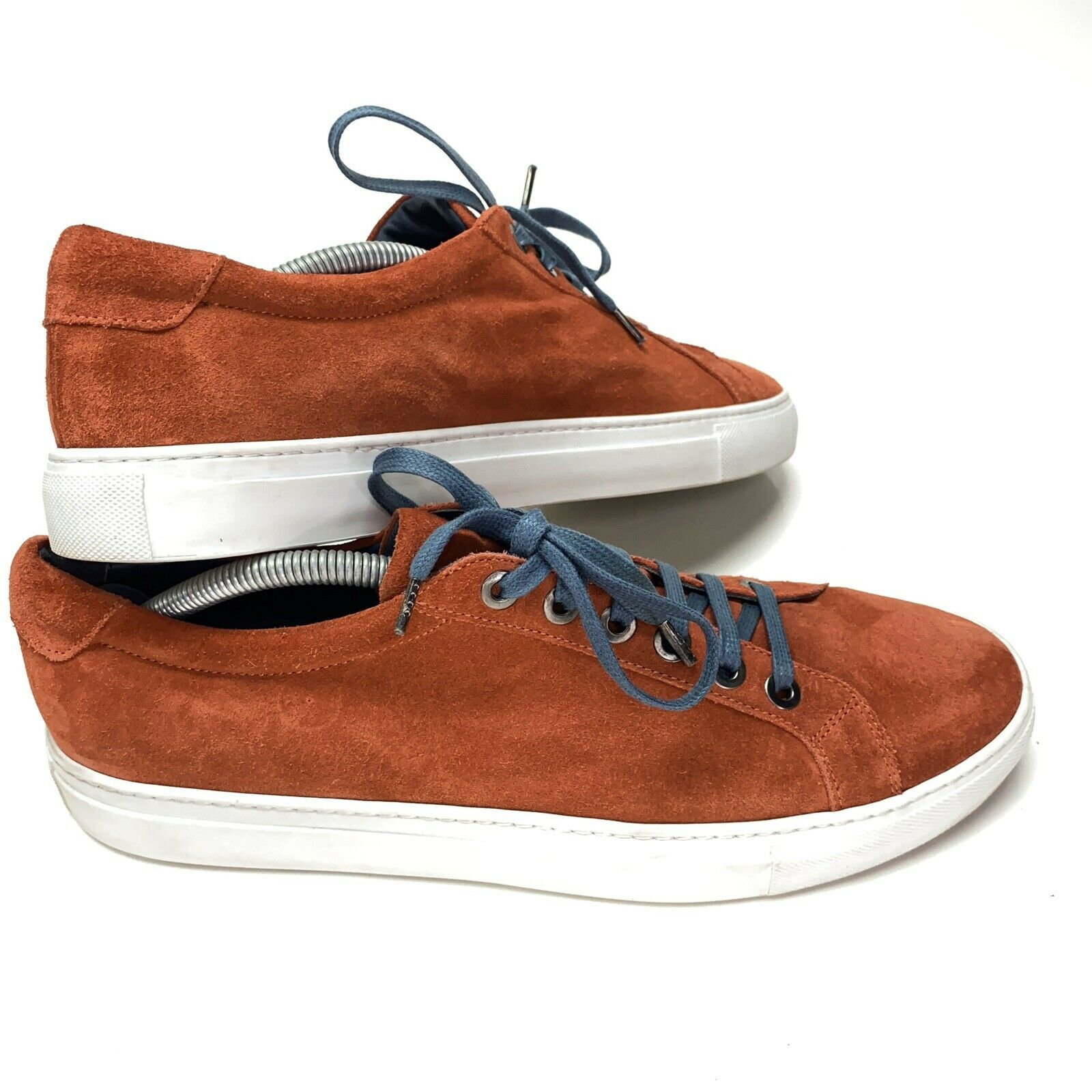 Andrea Zori Mens US 12 EU 45 Salmon Orange Red Italy Suede Sneaker Shoes 19212