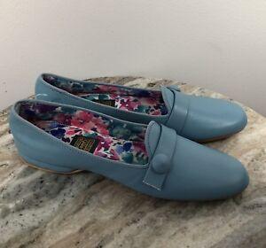 Daniel Green Womens Slippers House Boudoir Shoes Sz 8 Aa Blue Vintage Comfy G Ebay