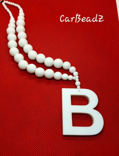 Carbeadz car beads with pendant Hanging Regular Letter Car Rear  Mirror Charm
