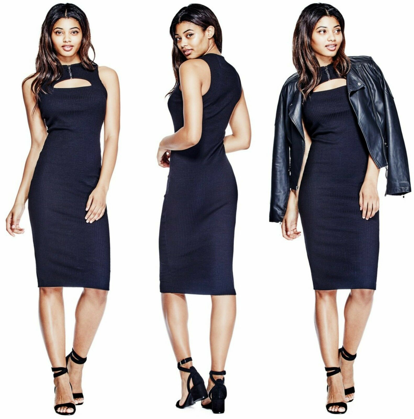 GUESS GIBSON CUTOUT BODYCON DRESS