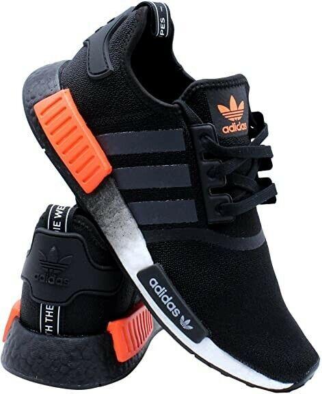 Adidas Originals Nmd R1 Shoes Men S Core Black Solar Orange 9us