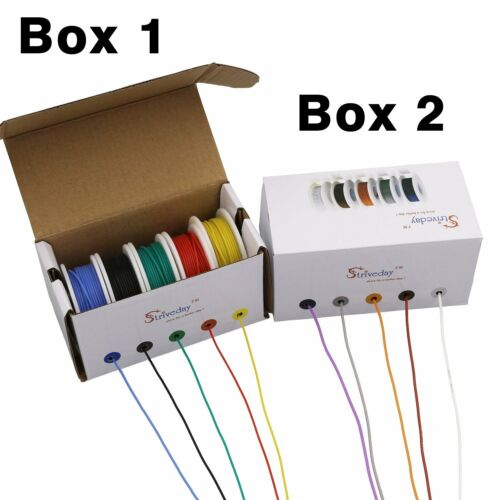 50m 26AWG Flexible Silicone Wire Cable Mix box 1 package Electrical Wire