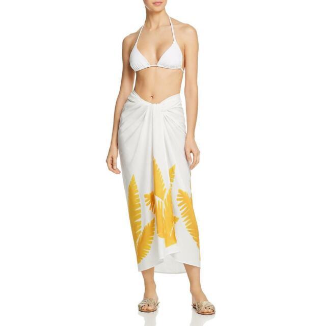 ViX Paula Hermanny Womens Tamarindo White Wrap Skirt Swim Cover-Up O/S BHFO 9235