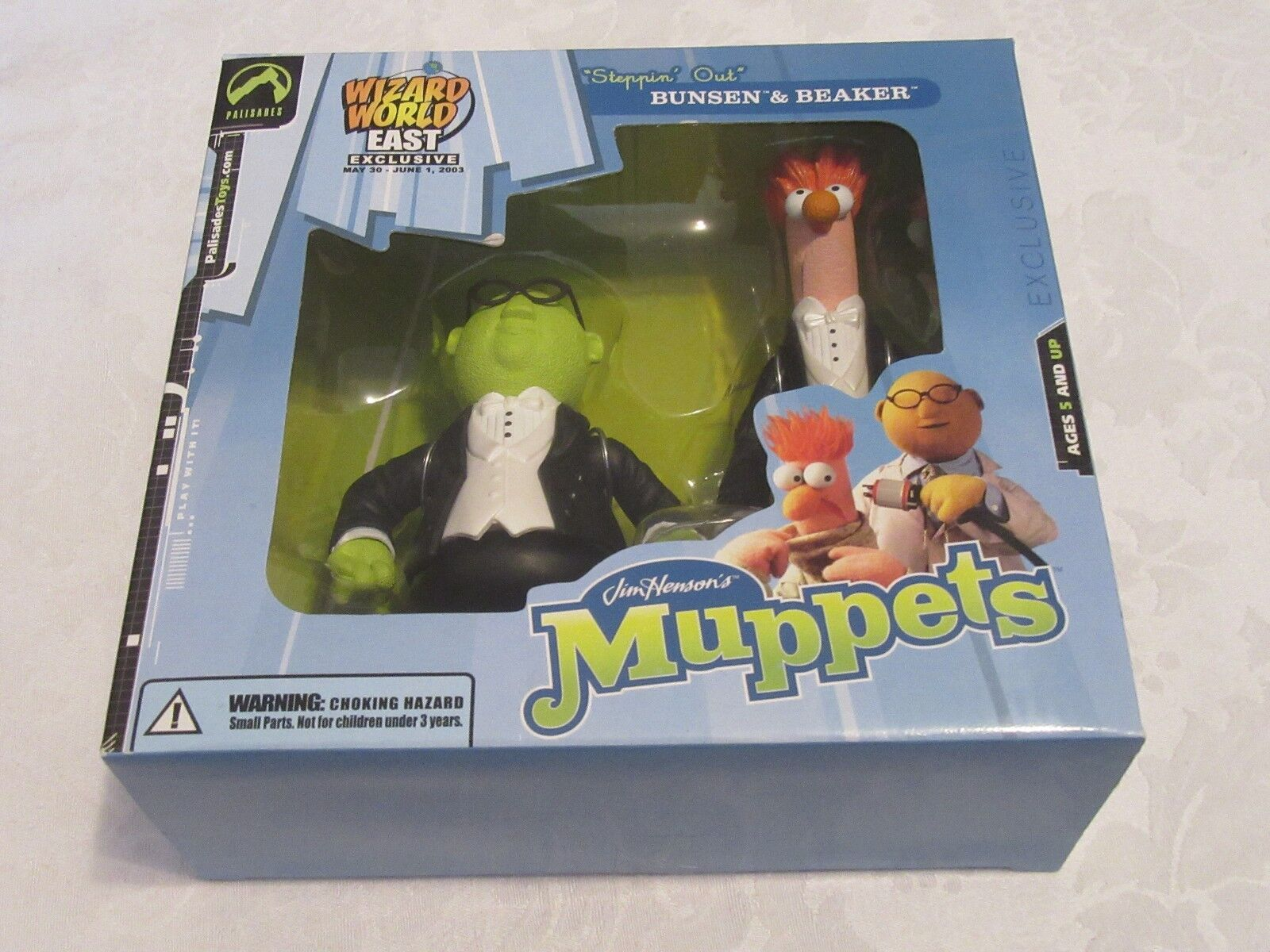 Palisades Wizard World East 2003 Exclusive Muppets Steppin Out Bunsen & Beaker