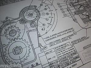 Details about HARLEY DAVIDSON Servicar 45 Flathead Transmission Blueprint  Plans HD print parts