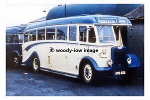 rp12104-Scottish-Bluebird-Bus-Coach-AMS-533-to-Kirkcaldy-photograph-6x4