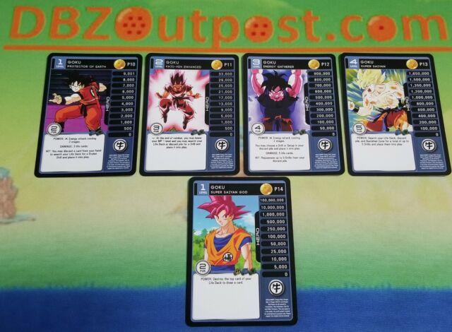 Dragon Ball Z DBZ CCG TCG Custom Proxy Promo MP Set Vegeta Evolution 1-4 Non-HT!