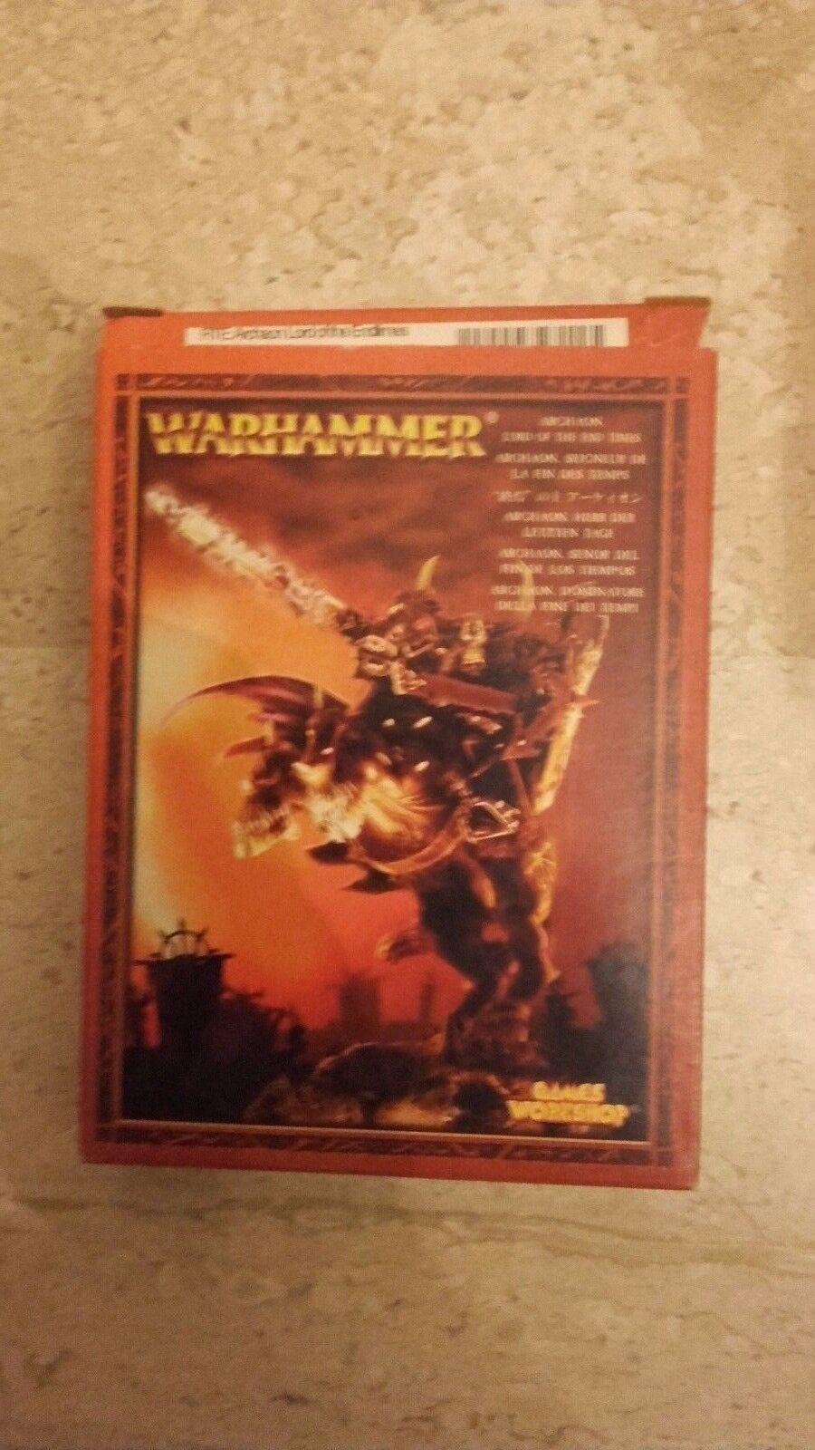 Warhammer GW Guerreros del Caos Caos Archaon en caja abierta
